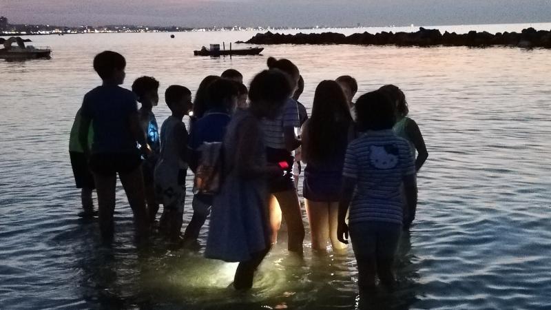 Passeggiata notturna al mare